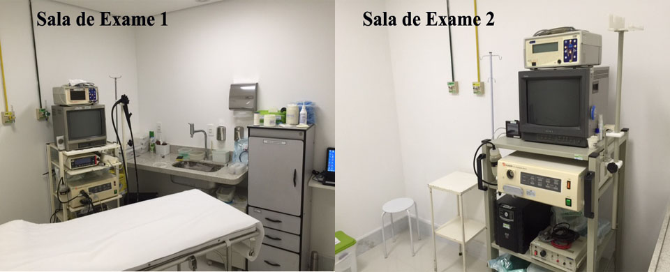 Salas de Endoscopia e Colonoscopia